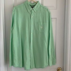 Men's Chaps Button Down Shirt Mint Green